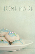 Text Photo Posters - Home Made Cookies Poster by Priska Wettstein