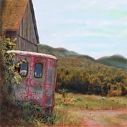 Delivery Truck Paintings - Home Made Ice Cream by Earl Jackson