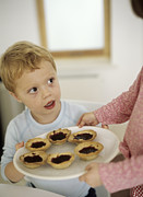 Home Made Food Photos - Home-made Jam Tarts by Ian Boddy