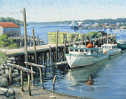 Simpson Paintings - Home of Her Berth by Steven A Simpson