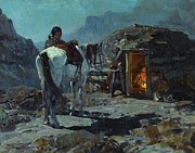 Nightime Paintings - Home of the Navajo by Pg Reproductions
