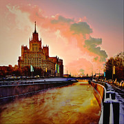 Moscow Pyrography - Home on River by Gennadiy Golovskoy