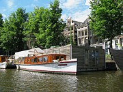 City Pyrography Posters - Home On The Canal Poster by Arlene Carmel