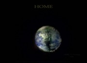 Planet Earth Sculpture Posters - Home Poster by Phillip H George