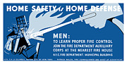 World War 2 Mixed Media Metal Prints - Home Safety Is Home Defense Metal Print by War Is Hell Store