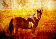 Paint Horse Prints - Home Series - Strength and Grace Print by Brett Pfister