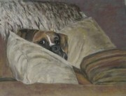 Brown Dogs Pastels - Home So Soon by Elizabeth  Ellis