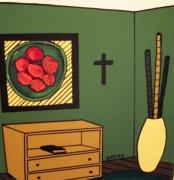 Fruit Bowl Paintings - Home Sweet Home - The Fruit Bowl by Ed Akers