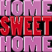 Needlepoint Framed Prints - Home Sweet Home 2 Framed Print by Andrew Fare