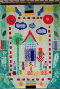Home Tapestries - Textiles - Home Sweet Home by Lorna Diwata Fernandez