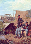 Camp Paintings - Home Sweet Home by Winslow Homer