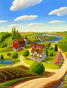 Barns Paintings - Home to Harmony by Robin Moline