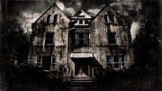 Haunted House  Digital Art Prints - Home Print by Torgeir Ensrud