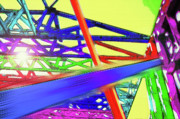 Stud Digital Art - Home Under Construction 2 - Colorful Speedy Construction by Steve Ohlsen