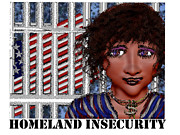 Insecurity Digital Art - Homeland Insecurity by Anita V Bauer