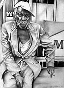 African American History Drawings Prints - Homeless Print by Carey Davis