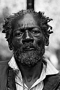 Black Man Photo Framed Prints - Homeless on His Birthday Framed Print by Lone  Dakota Photography