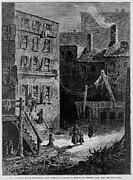 Recessions Prints - Homeless Poor In Donovan Lane Print by Everett