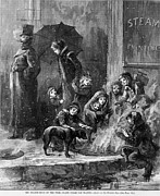 Homeless Women And Children Heating Print by Everett