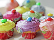 Cupcake Photography Prints - Homemade Cupcakes Print by Richard Newstead