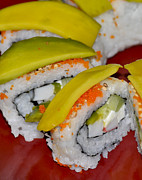 Home Made Food Photos - Homemade Sushi by Carolyn Marshall