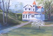 Abandoned Houses Painting Metal Prints - Homeplace Metal Print by Reggie Jaggers