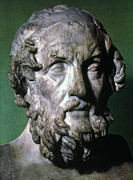 Statue Portrait Prints - HOMER (9th-8th CENTURY B.C.) Print by Granger