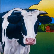 Bovine Art - Homer by Stacey Neumiller