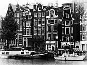 Leslie Leda Prints - Homes of Amsterdam Print by Leslie Leda