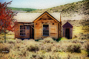 Outhouses Metal Prints - Homestead 2 Metal Print by Cheryl Young