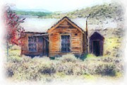 Outhouses Acrylic Prints - Homestead 3 Acrylic Print by Cheryl Young