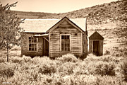 Outhouses Metal Prints - Homestead Metal Print by Cheryl Young