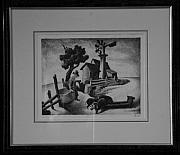 Original Lithographs Drawings - Homestead F.20 by Thomas Hart Benton