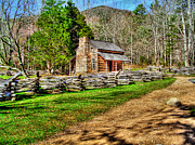 Gatlinburg Tennessee Digital Art Prints - Homestead Print by Jason Abston