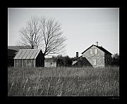 Barn Door Framed Prints - Homestead Framed Print by Octane Creative