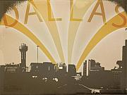 Dallas Skyline Digital Art Prints - Hometown Glory Print by Rhianna Wurman