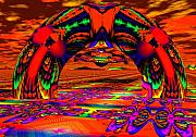 Trippy Digital Art - Homeward Bound by Robert Orinski
