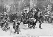 Tenements Prints - Homeward Bound Working Men Carrying Print by Everett