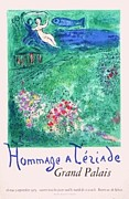 Mourlot Paintings - Hommage a Teriade Grand Palais by Marc Chagall