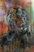 Crowds Paintings - Homme No. 3 by Paul Harrington