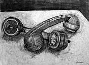 Homoerotic Drawings - Homoerotic Phones by Richard Mclean