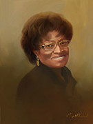 Carey Muhammad Paintings - Hon  Irene H. Brodie Mayor by Carey Muhammad