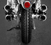 Wheel Mixed Media Posters - Honda Four Poster by Ari Salmela