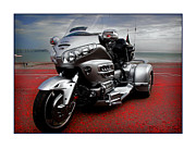 Goldwing Framed Prints - Honda Goldwing Trike Framed Print by Mal Bray