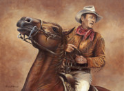 John Wayne Paintings - Hondo by Kim Lockman