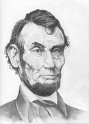 President Lincoln Drawings - Honest Abe by Avery Wilson