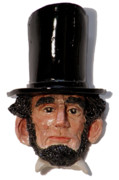 Politicians Sculptures - Honest Abe by Karen Fulk