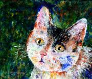 Felines Painting Prints - Honest...It Wasnt Me Print by Arline Wagner