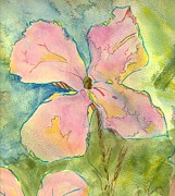 Floral Drawings Originals - Honesty British Flower Painting by Mike Jory