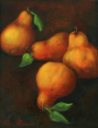Oil Painting Acrylic Prints - Honey Pears by Enzie Shahmiri